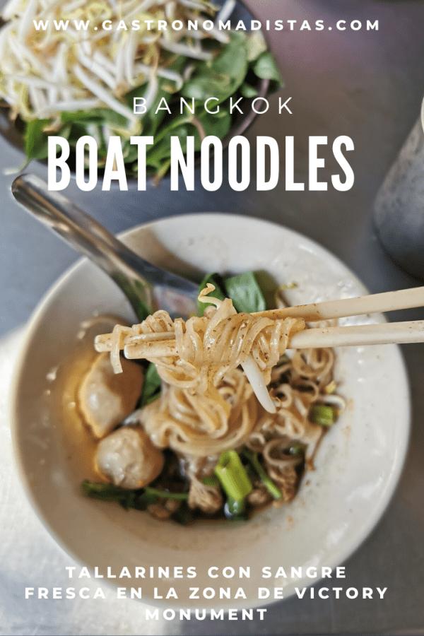 Boat noodles en Bangkok: descubre los mejores comedores de Victory Monument en los que disfrutar de esta peculiar sopa tailandesa